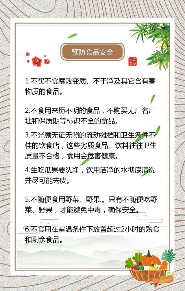 食品安全宣传简约大气企业政府食品知识宣传科普H5