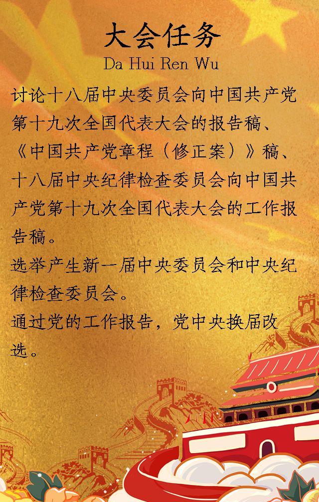 党十九大 做合格党员 喜迎十九大 党章文化宣传 政府宣传 党员学习模板