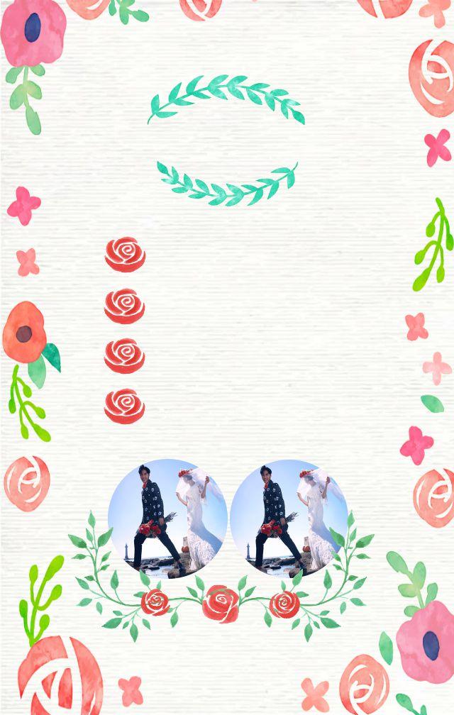 粉红色浪漫小清新·玫瑰花婚礼邀请函H5
