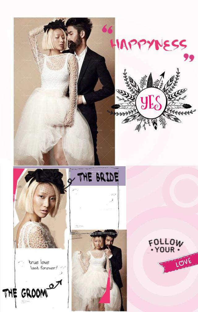 黑白灰加玫红单色、时尚、简约、大气、婚礼请柬