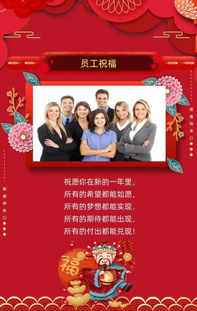 2020鼠年春节新年快乐企业公司客户朋友闺蜜祝福贺卡