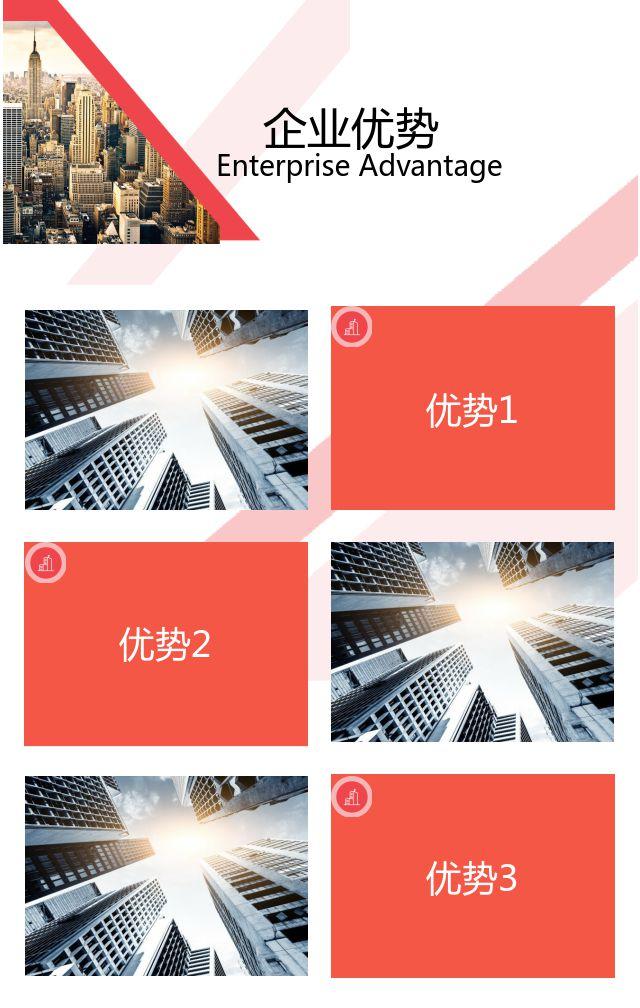 高端大气红色企业宣传画册