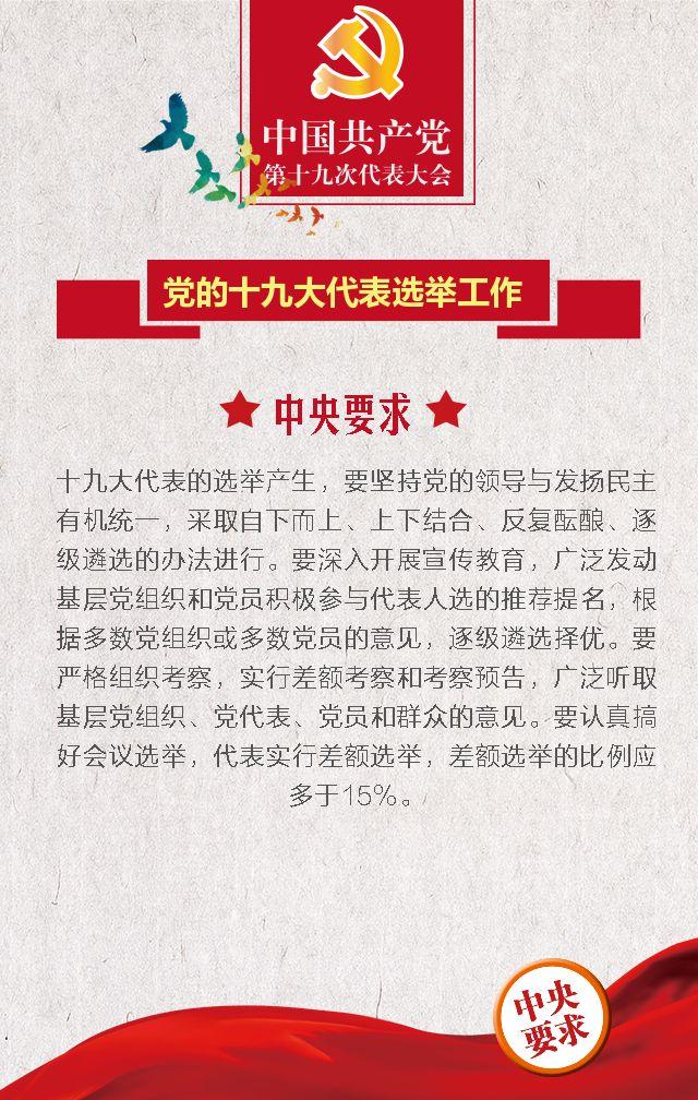 喜迎十九大 共筑中国梦  党章文化宣传 做合格党员十九大代表选举