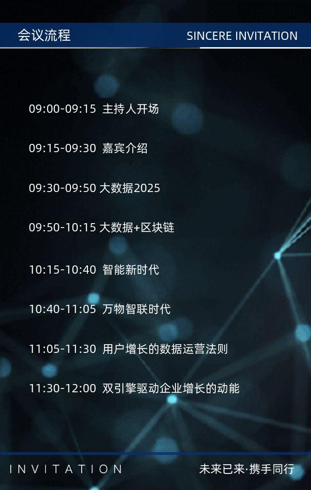 互联网商务科技峰会论坛会议邀请函企业宣传H5