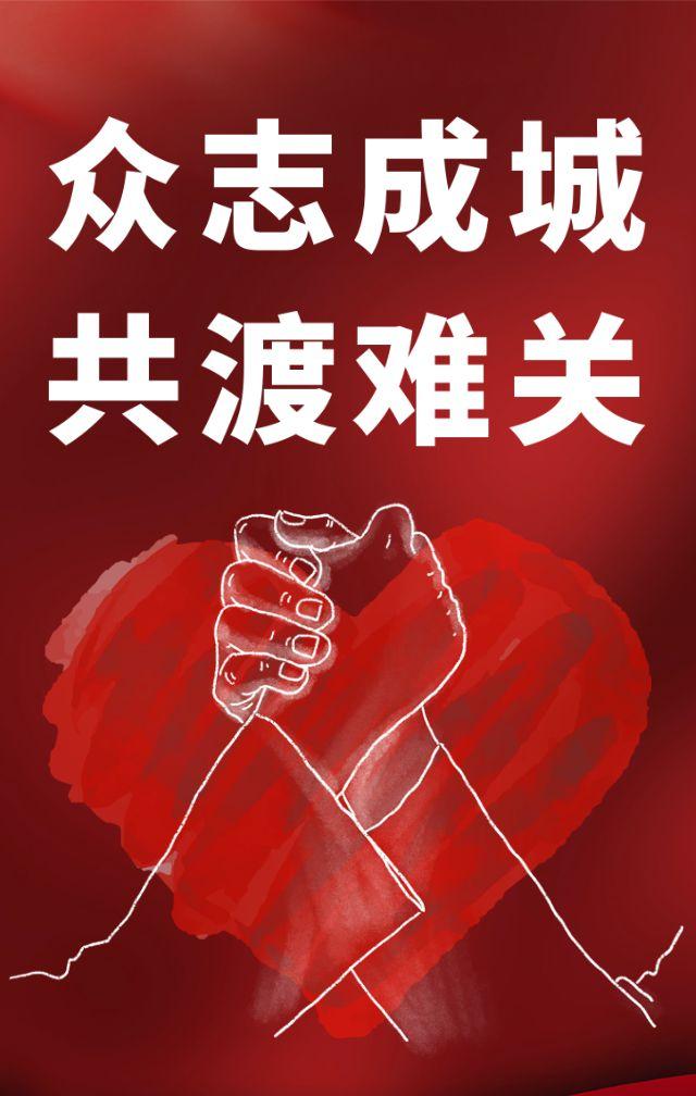 众志成城共度难关武汉加油预防新型肺炎冠状病毒健康宣传h5