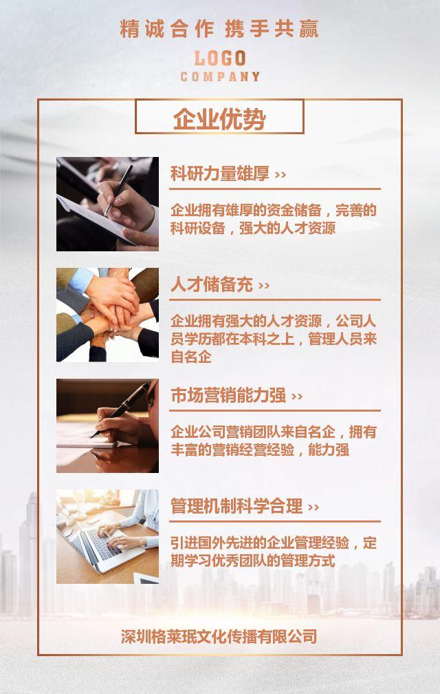 高端大气企业宣传公司简介产品介绍宣传画册人才招聘商务合作招商加盟H5模板