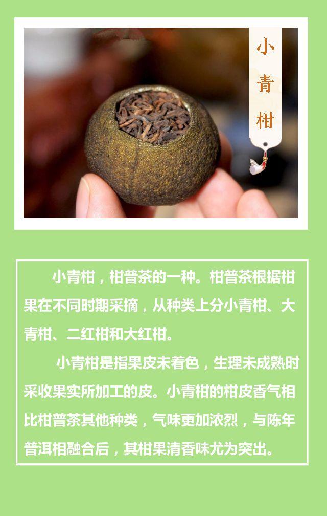 古风养生最火茶叶小青柑宣传