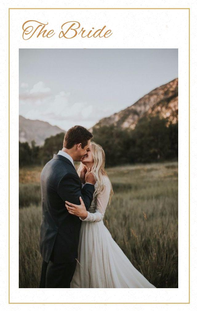 唯美简约白蓝金色字母高尚婚礼请柬