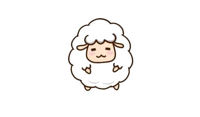 咩咩咩~小綿羊簡筆畫教程圖片