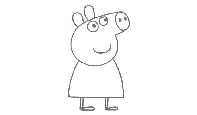 画小猪佩奇简笔画,跟孩子交朋友