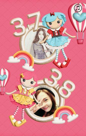 可爱立体卡通粉色公主女生节/妇女节贺卡