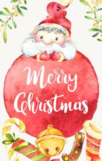 小清新 圣诞祝福贺卡