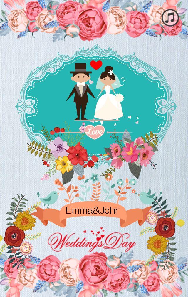 婚礼邀请涵-简易手绘_maka平台海报模板商城