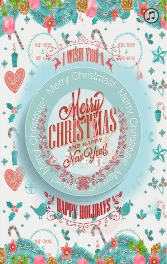 快乐的圣诞节!节日祝福贺卡
