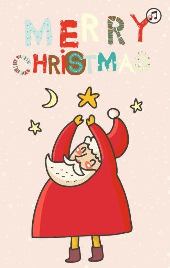 老可爱 圣诞贺卡