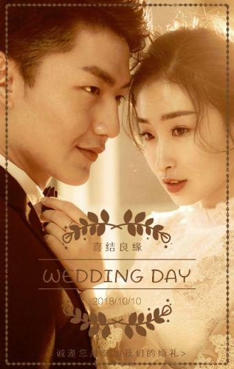 高端婚礼时尚婚礼浪漫婚礼唯美婚礼文艺婚礼结婚婚宴邀请函韩式欧式婚礼
