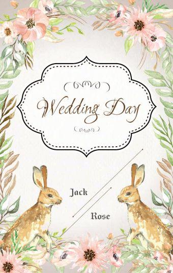 小兔森系婚礼模板