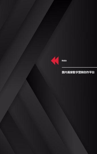 炫酷黑色系列企业介绍