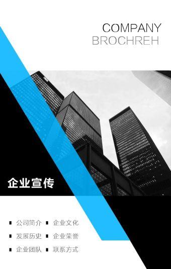 公司简介 企业介绍 商务蓝 公司简介模板