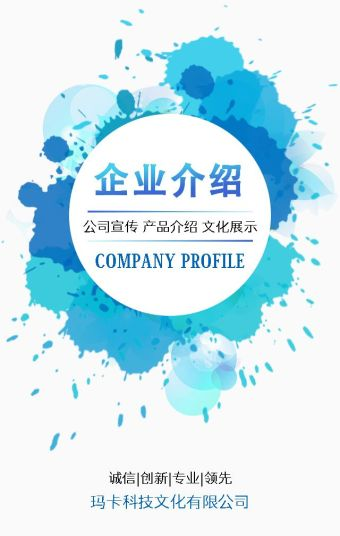 15页超详细企业介绍 公司宣传 产品展示 蓝色小清新简约版