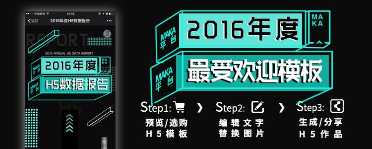 MAKA2016年度模版排行榜