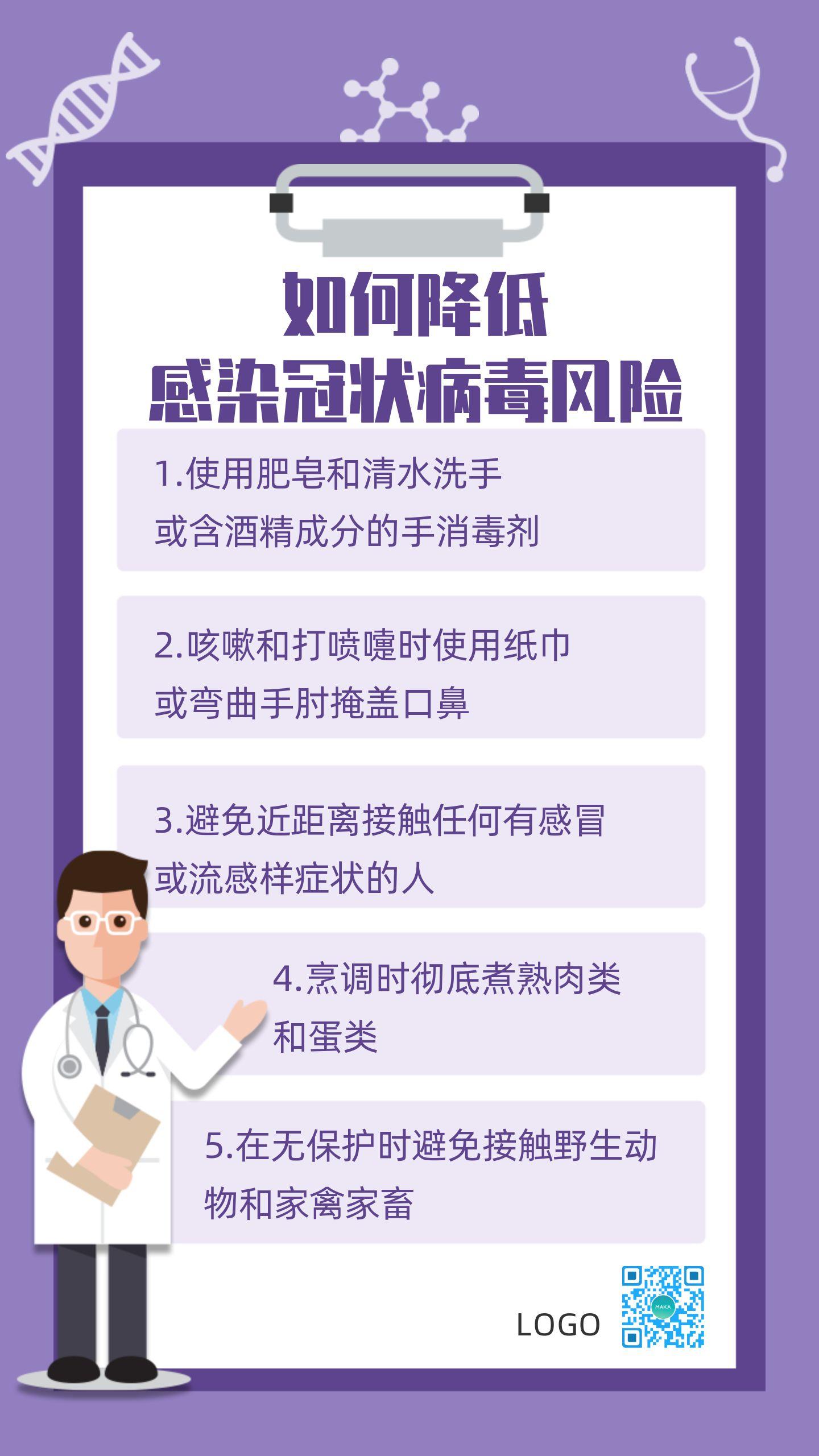 简约医疗卫生健康预防流感疫情防范呼吸病毒传染疾病知识宣传海报