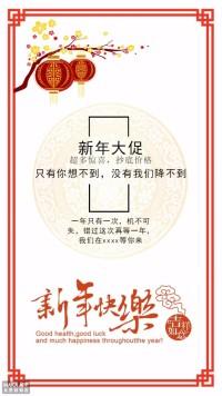 新春新年春节促销海报