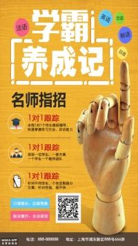 外语招生培训宣传通用海报(三颜色设计)