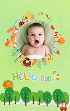 宝宝相册|满月宴|周岁生日邀请函