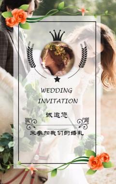 婚礼简约唯美清新大气高端爱情婚拍结婚请帖喜帖请柬邀请函