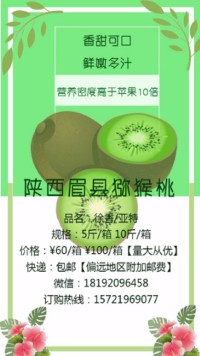 猕猴桃宣传海报