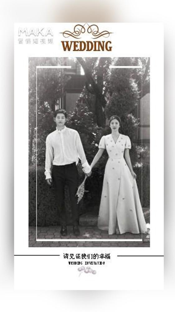 卓·DESIGN/时尚复古婚纱写真相册婚礼纪念个人自拍情侣秀恩爱相册七夕白色520表白圣诞节万圣节情
