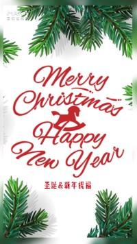 卓·DESIGN/浪漫圣诞节贺卡新年贺卡