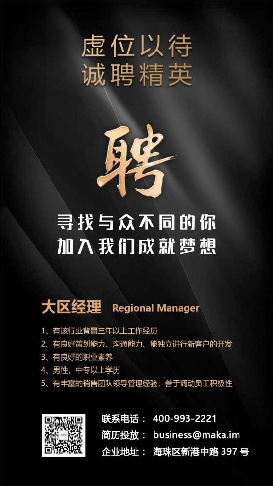 炫酷黑金高端大气校园企业公司招聘招募海报