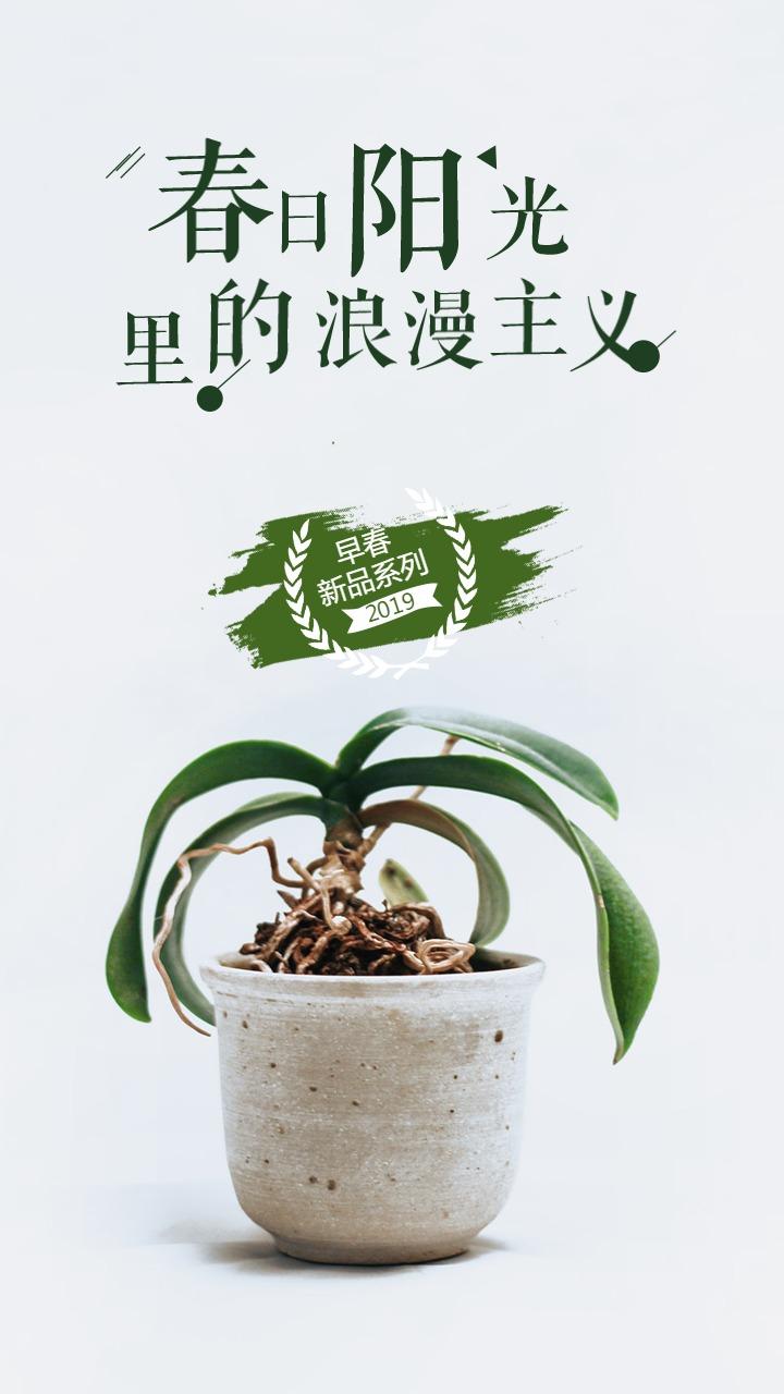 春季上新商家店铺电商微商店铺打折新品促销海报