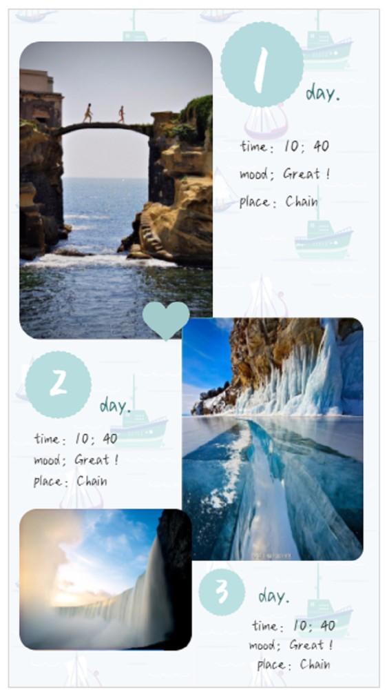 环游记·简约大方旅游海报