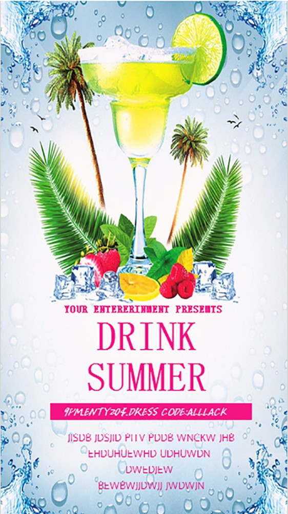 蓝色DRINK夏日