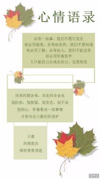 枫叶心情语录