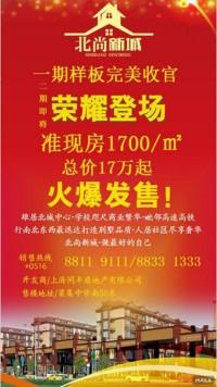 北尚新城准现房火爆发售宣传海报设计