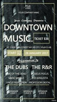 时尚高楼风景酒吧夜店派对音乐会活动宣传海报