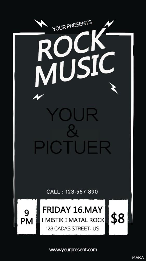 黑色极简风酒吧夜店派对音乐会活动宣传海报