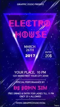 时尚炫酷电子风酒吧夜店派对音乐会活动宣传海报