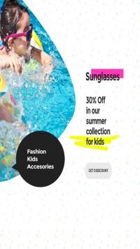 儿童游泳馆海报