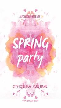 春季派对宣传海报设计