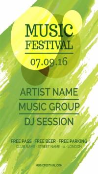 时尚音乐节宣传海报设计