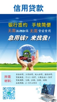 信用贷款 手机银行 海报宣传
