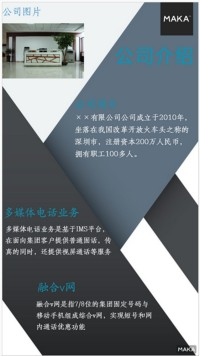 简约公司介绍宣传海报