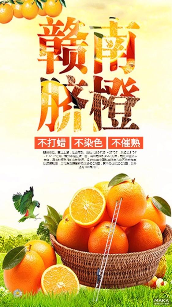 赣南脐橙 简约大气宣传海报