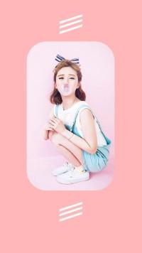 粉色女装促销少女系列