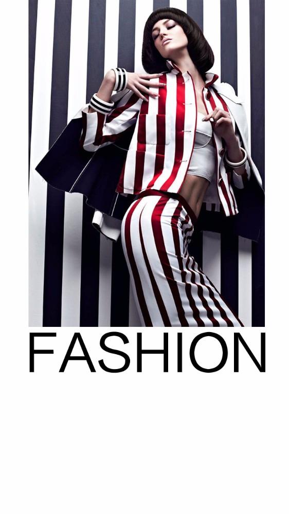 品牌女装促销宣传 黑白色系高端女装